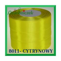 Wstążka tasiemka satynowa 6mm kolor cytrynowy 8011