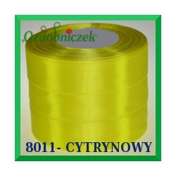 Tasiemka satynowa 6mm kolor cytrynowy 8011