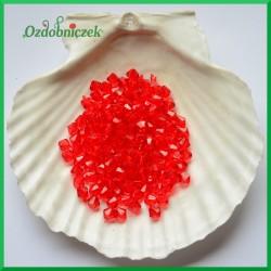 Diamenciki akrylowe 6mm czerwone przeźroczyste