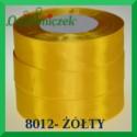 Wstążka tasiemka satynowa 6mm kolor żółty 8012