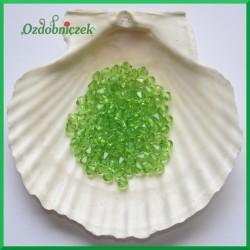 Diamenciki akrylowe 6mm duża paczka zielone przeźroczyste