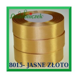 Tasiemka satynowa 6mm kolor jasne złoto 8015