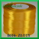 Wstążka tasiemka satynowa 6mm kolor złoty 8016