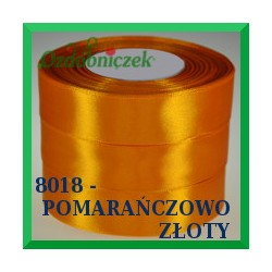 Tasiemka satynowa 6mm kolor pomarańczowo złoty 8018
