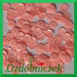 Cekiny kółka łamane 6mm 17g różowe - b9
