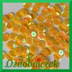 Cekiny kółka łamane 6mm 17g żółte opalizujące - f15