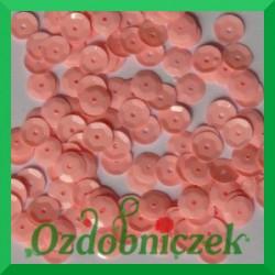 Cekiny kółka łamane 8mm 17g różowe matowe - b9