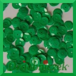 Cekiny kółka łamane 8mm 17g zielone pastelowe matowe - b30