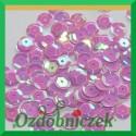 Cekiny kółka łamane 8mm 17g liliowe opalizujące - f21