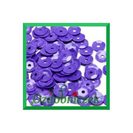 Cekiny 8mm 12g fioletowe matowe