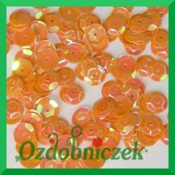 Cekiny 6mm 12g pomarańczowe opalizujące
