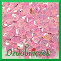 Cekiny 6mm 12g różowe opalizujące