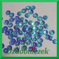 Cekiny 6mm 12g niebieskie opalizujące