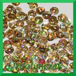 Cekiny 6mm 12g złote laserowe