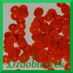 Cekiny kółka łamane 6mm 17g czerwone matowe - b13