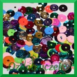 Cekiny 6mm mix kolorów metaliczne 5g
