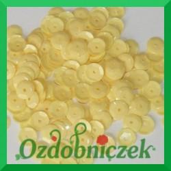 Cekiny 6mm żółte matowe 5g