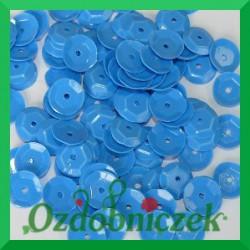 Cekiny 6mm niebieskie matowe 5g