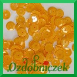 Cekiny 6mm żółte słoneczne matowe 5g