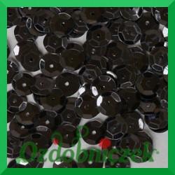 Cekiny 6mm czarne matowe