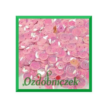 Cekiny 6mm różowe opalizujące