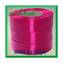 Wstążka tasiemka satynowa 6mm kolor fuksja 8053