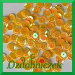 Cekiny 6mm żółte opalizujące