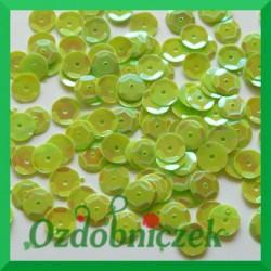 Cekiny 6mm zielone opalizujące