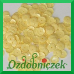 Cekiny 8mm jasne żółte matowe