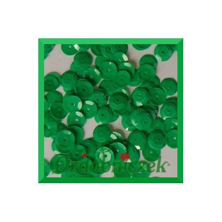 Cekiny 8mm zielone pastelowe matowe