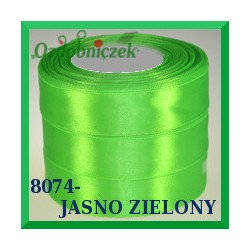 Tasiemka satynowa 6mm kolor jasny zielony 8074