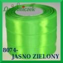Wstążka tasiemka satynowa 6mm kolor jasny zielony 8074