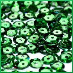 Cekiny 6mm zielone laserowe 5g