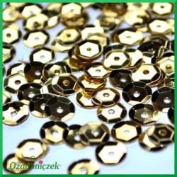 Cekiny 6mm jasno złote metaliczne 5g