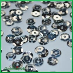 Cekiny 6mm srebrne metaliczne