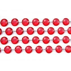 Girlanda kryształowa czerwona 100cm