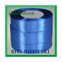 Tasiemka satynowa 6mm kolor niebieski 8105