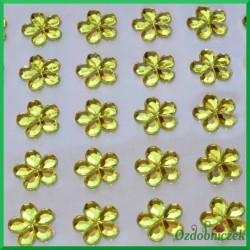 Kwiatuszki samoprzylepne 45 sztuk cytrynowe