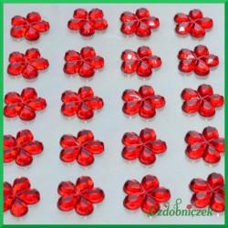 Kwiatuszki samoprzylepne 45 sztuk czerwone