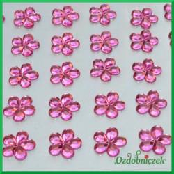 Kwiatuszki samoprzylepne 45 sztuk różowe