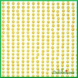 Perełki samoprzylepne 3mm żółte