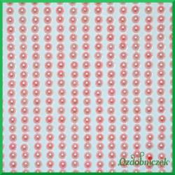 Perełki samoprzylepne 3mm różowe