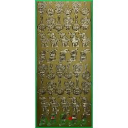 Stickersy złote miniaturki Świąteczne BN
