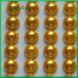 Perełki samoprzylepne 8mm złote
