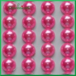 Perełki samoprzylepne 8mm różowe