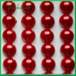 Perełki samoprzylepne 8mm czerwone