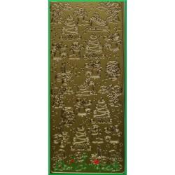 Stickersy złote Figurki Świąteczne BN