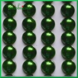 Perełki samoprzylepne 8mm zielone