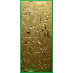Stickersy złote Maryja, Józef, dzieciątko BN