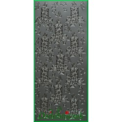 Stickersy srebrne świeczniki BN